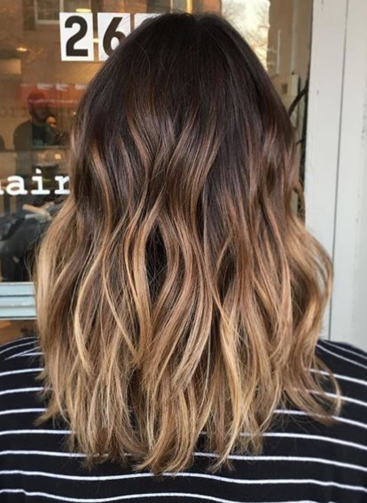 Perfect balayage mid length hair in 2020