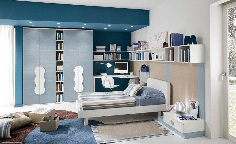Decoration D Interieur En Blanc Et Bleu Pour Toutes Les Pieces