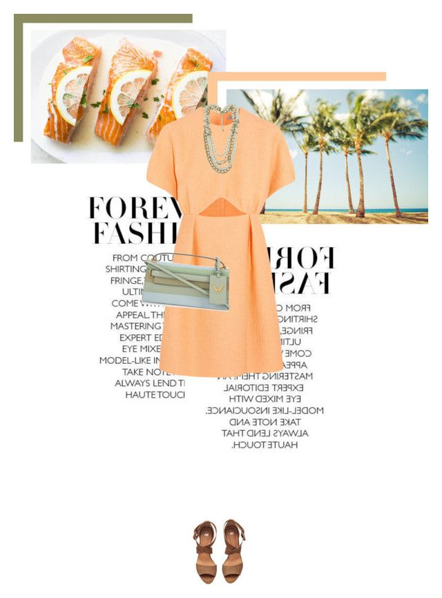 """Summer Dreaming"" by veronicamastalli ❤ liked on Polyvore featuring Emilia Wickstead, Forever 21, Valentino and H&M"