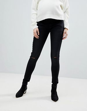 a0a4589f693a8 Supermom Maternity Skinny Under The Bump Jeans With Adjustable Waist ...