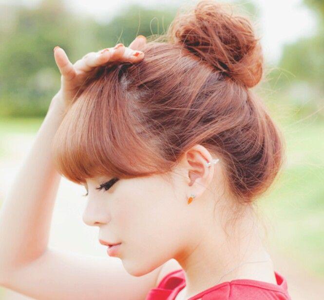Pin By Hikari Aris On Dolly Style Bun Hairstyles Hair Bun Tutorial Korean Hairstyle