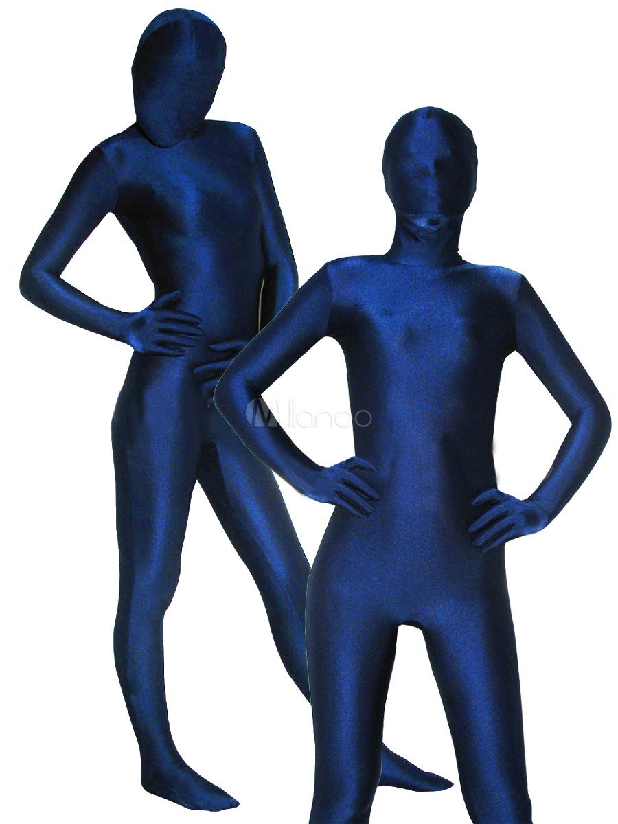 Deep Blue Lycra Spandex Unisex Zentai Suit - Milanoo.com