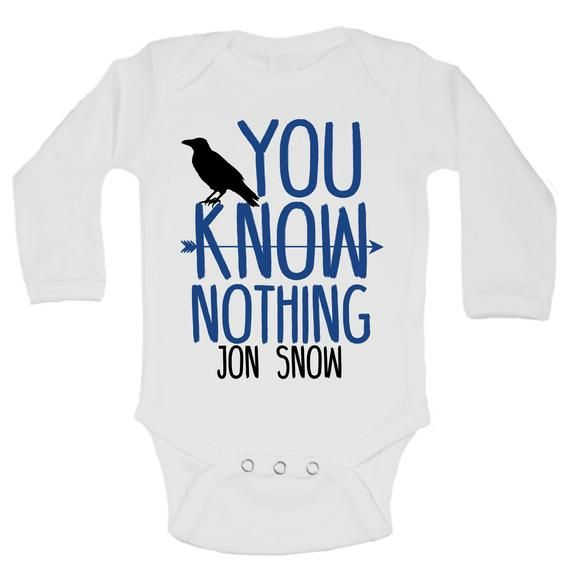 Game Of Thrones Jon Snow Baby Short Sleeve Bodysuit