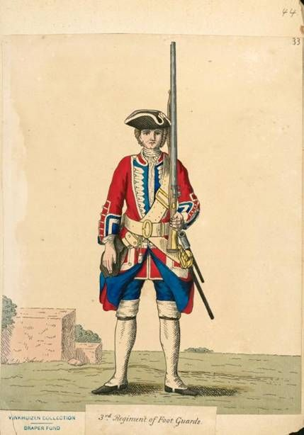 3rd Regiment of Foot Guards, 1742