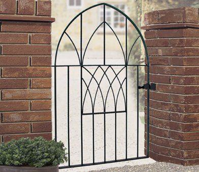 Burbage Abbey Modern Low Bow Top Single Gate Metal Fence Gates
