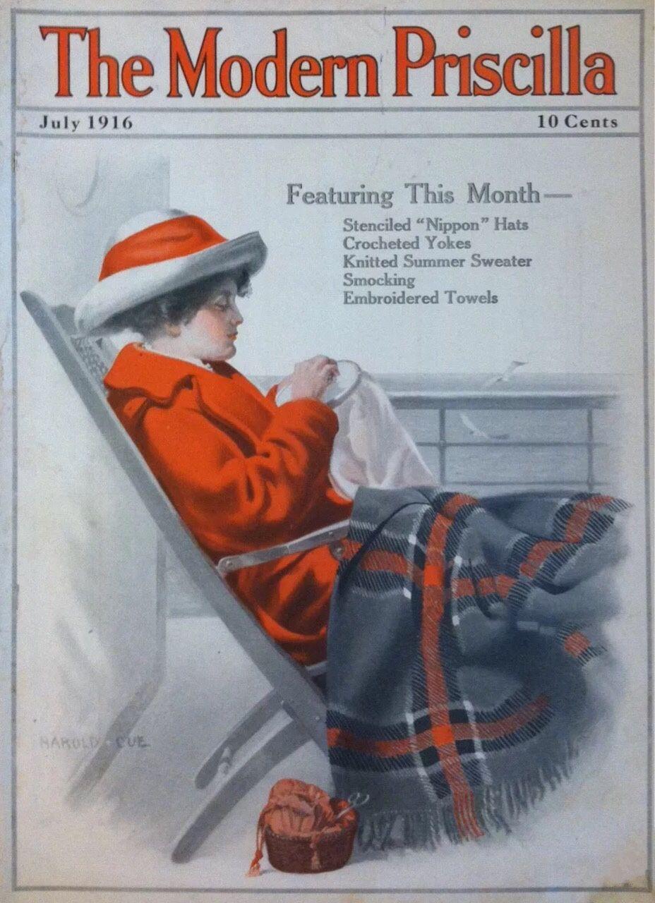 1910s USA The Modern Priscilla Magazine Cover - Stock