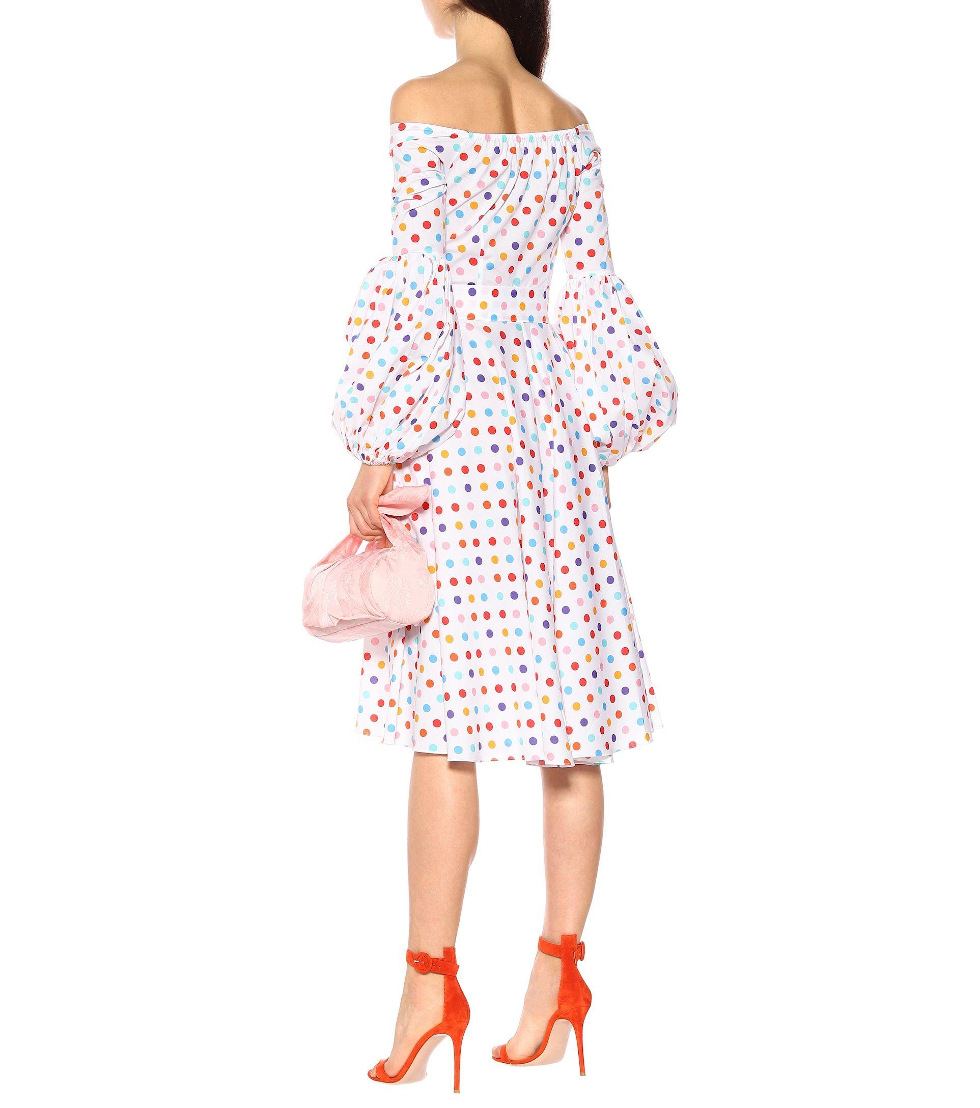 7d7c28a338e4 Caroline Constas Gisele polka-dot poplin dress in 2019 | dress2 ...