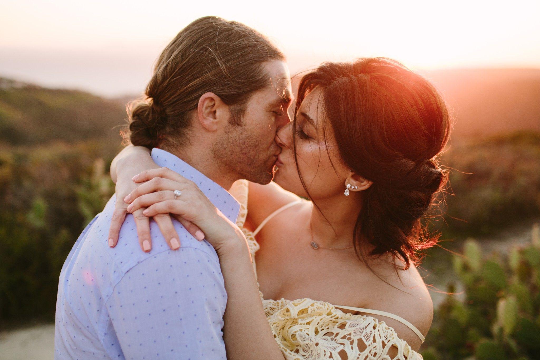 Pre wedding beach  Laguna Beach prewedding engagement shoot at Top of the World  THE