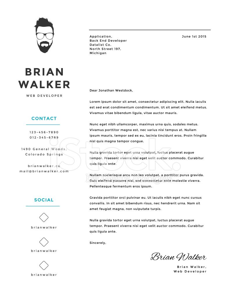 26 Creative Cover Letters And Minimalistic Personal Vector Letter Template
