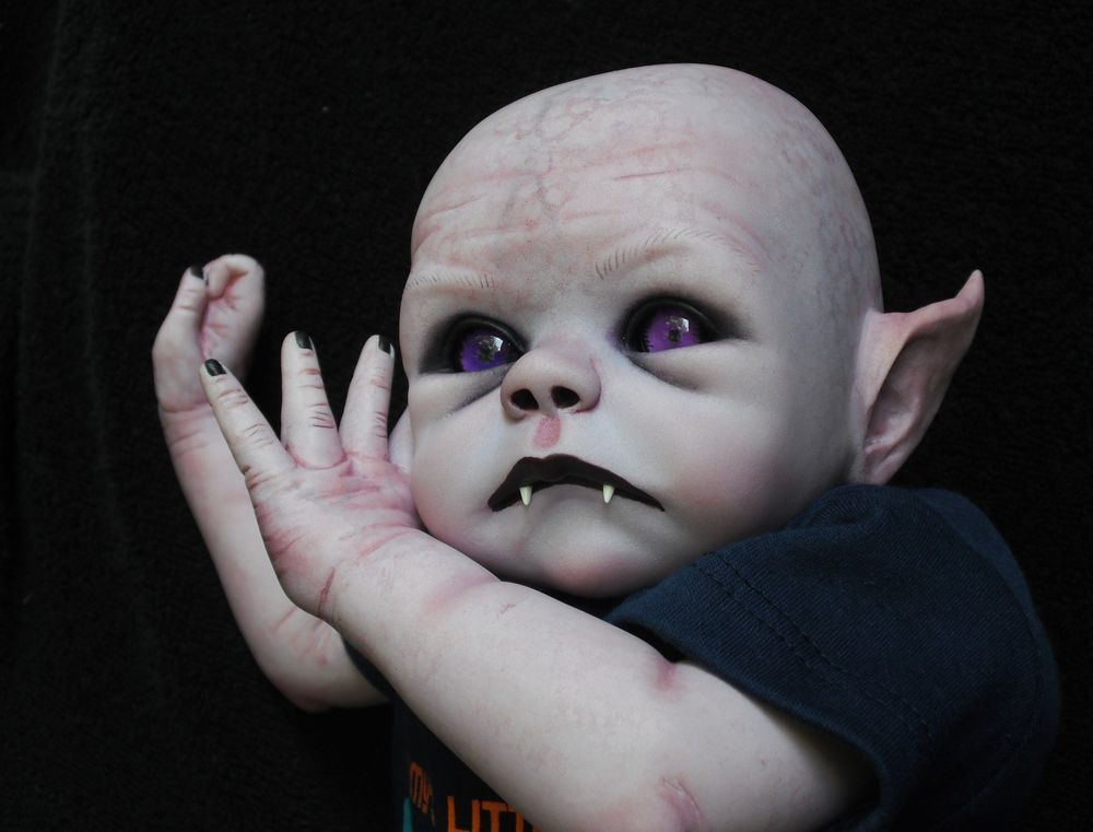 Details About Ooak Horror Goth Art Doll Vampire Baby