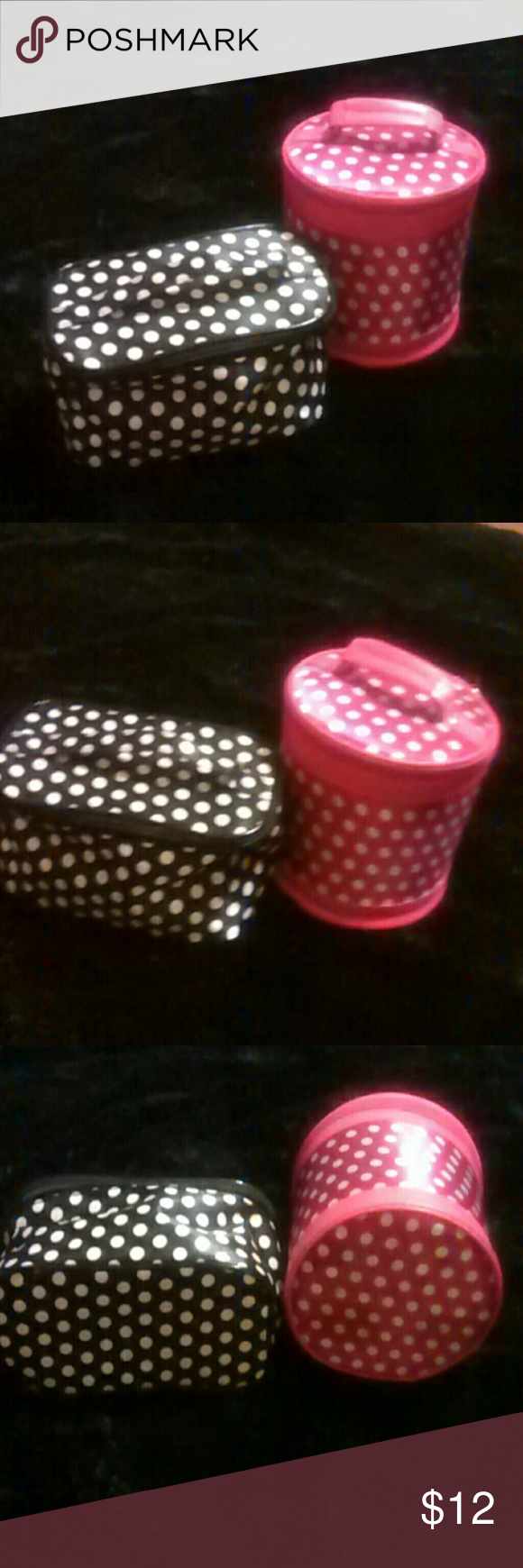 Polkadot Make Up Bag Bundle There are two very nice used very little make up bags. In great condition. Polkadot bags adorable. Happy Poshing??  Any questions please feel free to ask. Bags Cosmetic Bags & Cases