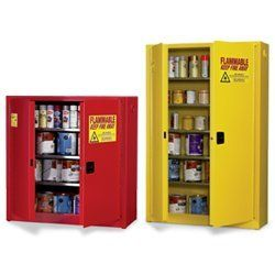"""Eagle PI-77 Safety Cabinet for Paint & Ink, 2 Door Manual Close, 30 gallon, 65""""Height, 43""""Width, 12""""Depth, Steel, Red by Eagle Manufacturing. $1107.00. Eagle Paint / Ink  Safety Cabinet, 30 Gallon,  Aerosol Can Storage, Manual Close with 2 Doors, 5 shelves, adjustable leveling legs, and a red powder coat finish with a trilingual safety warning label.. Save 28%!"""