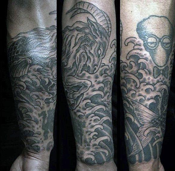 Mens Forearm Sleeve Capricorn Tattoo Ideas | Capricornio | Pinterest ...
