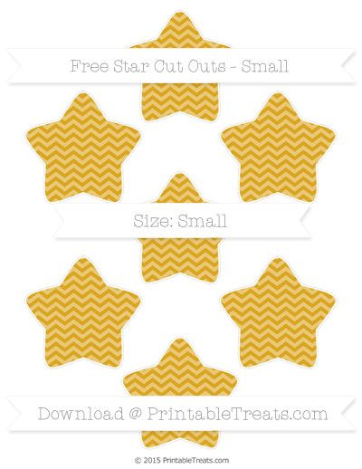 Free Goldenrod Chevron Small Star Cut Outs