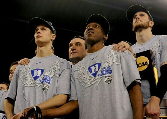 jon scheyer coach k nolan smith and brian zoubek duke