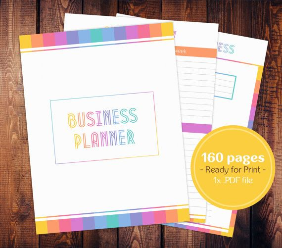 Minimalistic Business Planner In Lularoe Style You Get A Full Set Of 160 Pages