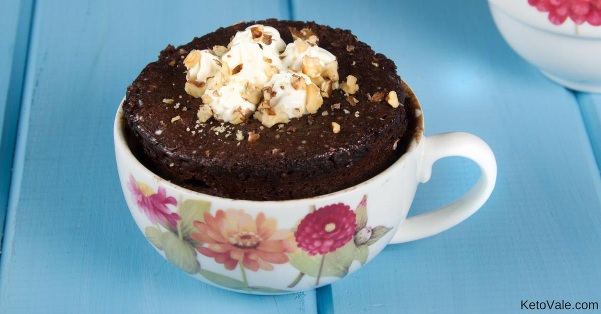 Keto Chocolate Cake in a Mug | Recipe | Microwave ...