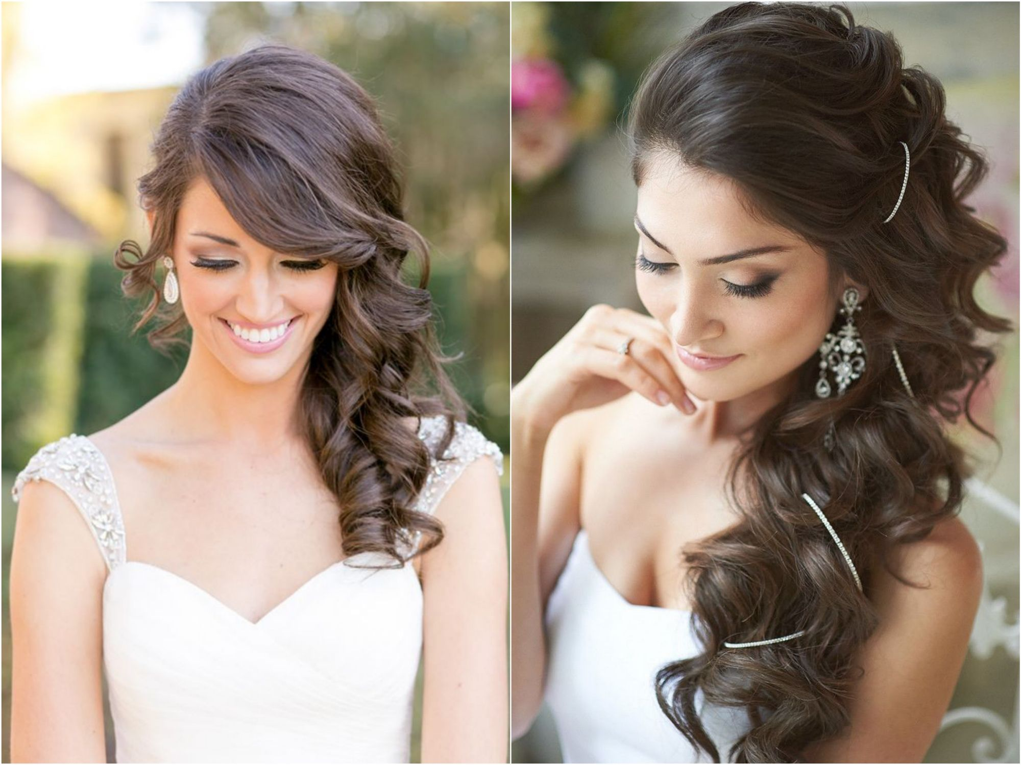 penteados de lado para noivas hair style wedding and makeup
