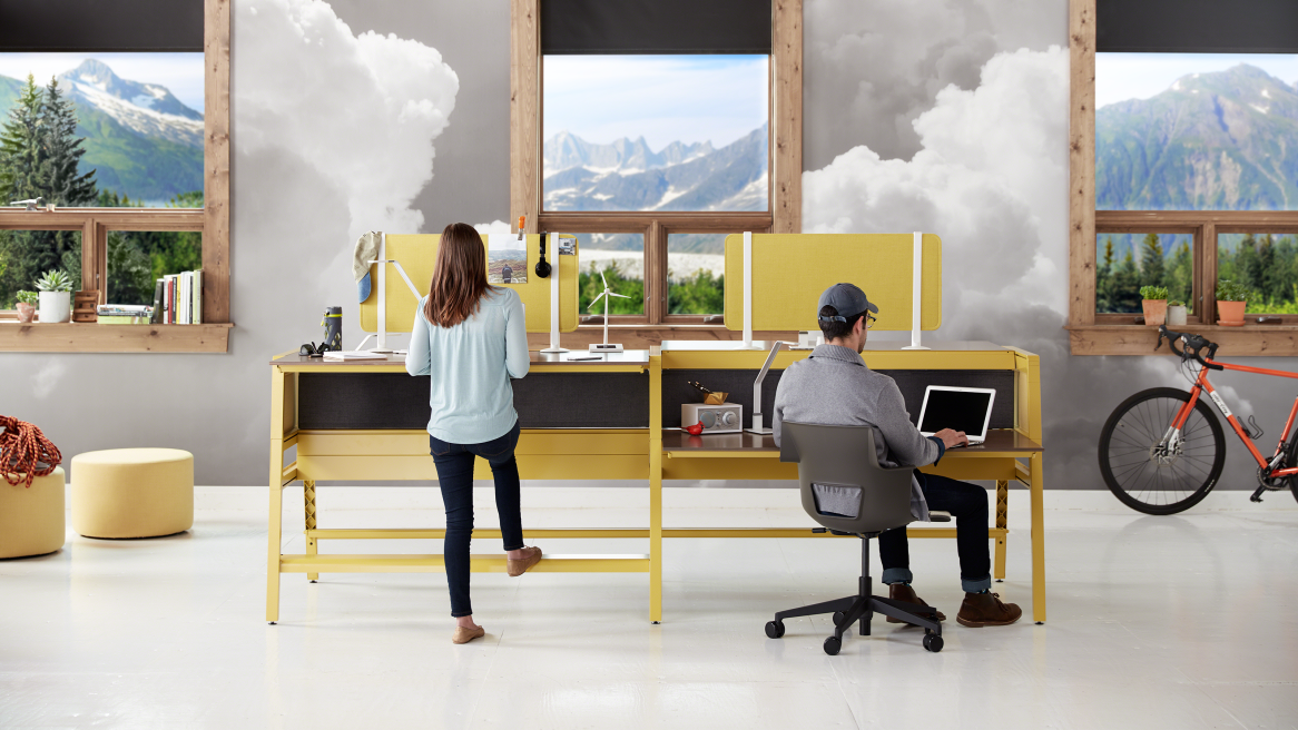 Awesome Turnstone Bivi Modern Office Desk System   Steelcase Amazing Ideas