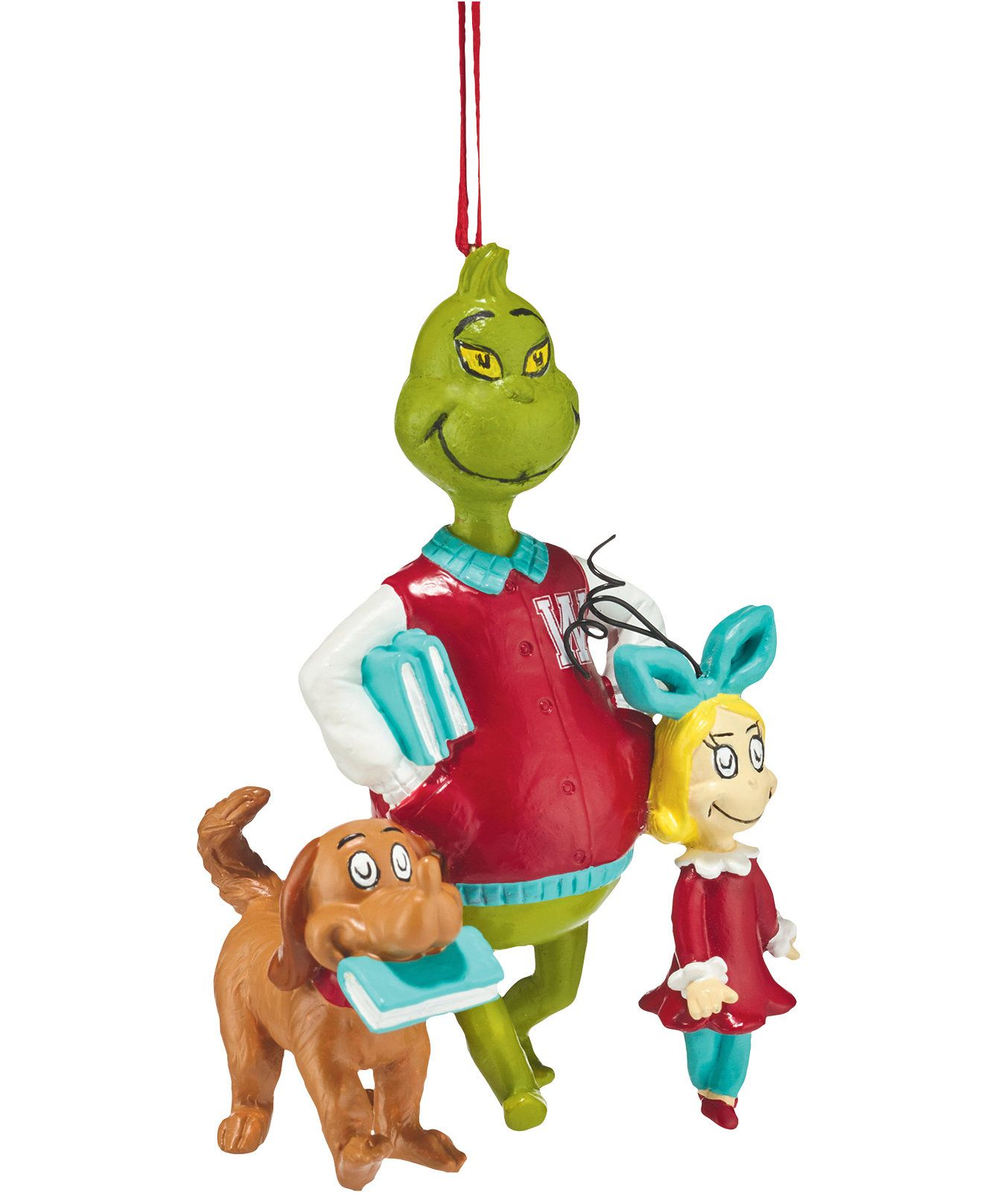Department 56 Grinch Ornaments Collection Walking To Class Ornament
