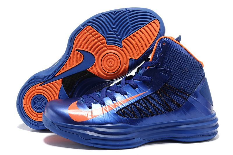 Cheap Nike 2013 Womens Lunar Hyperdunk Basketball Shoes Blue Orange For Sale