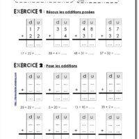 Fiches additions pos es sans retenue cole maths ce1 mathematique ce1 et addition et - Addition et soustraction ce1 ...