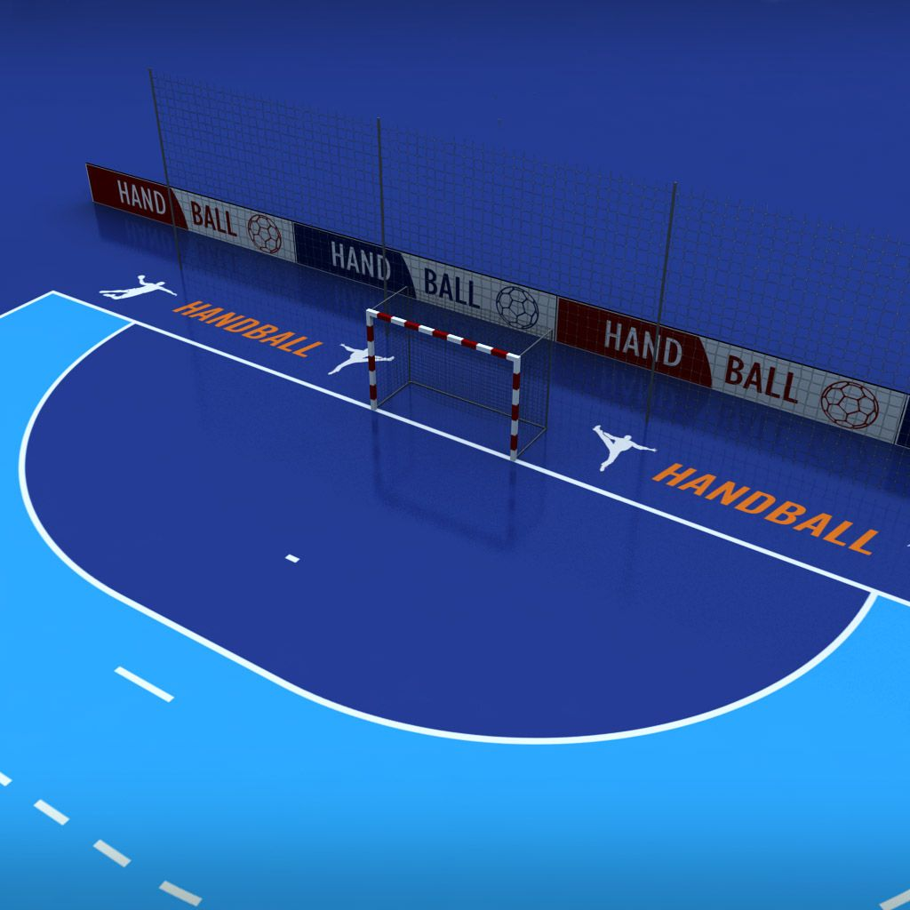 Handball Court Arena Low Poly Handball Poly Court
