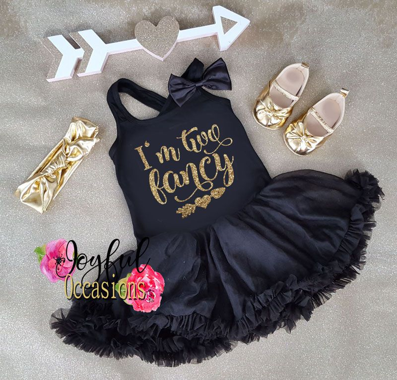 I'm Two Fancy Black and Gold Glitter Dresses 2nd