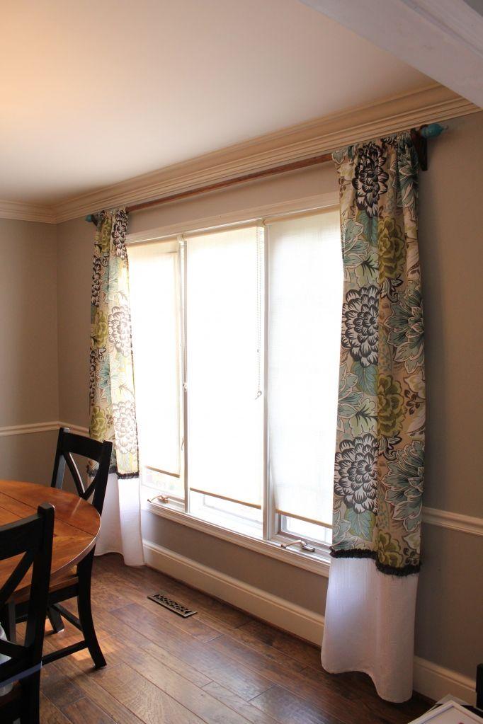 Diy Shower Curtain Turned Curtain Diy Shower Curtain Diy Curtains Curtains Living Room