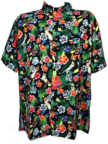 8c68559d6 Funny Guy Mugs Mens Cat Hawaiian Print Button Down Short Sleeve Shirt  2XLarge *** For more information, visit image link. (This is an affiliate  link) # ...