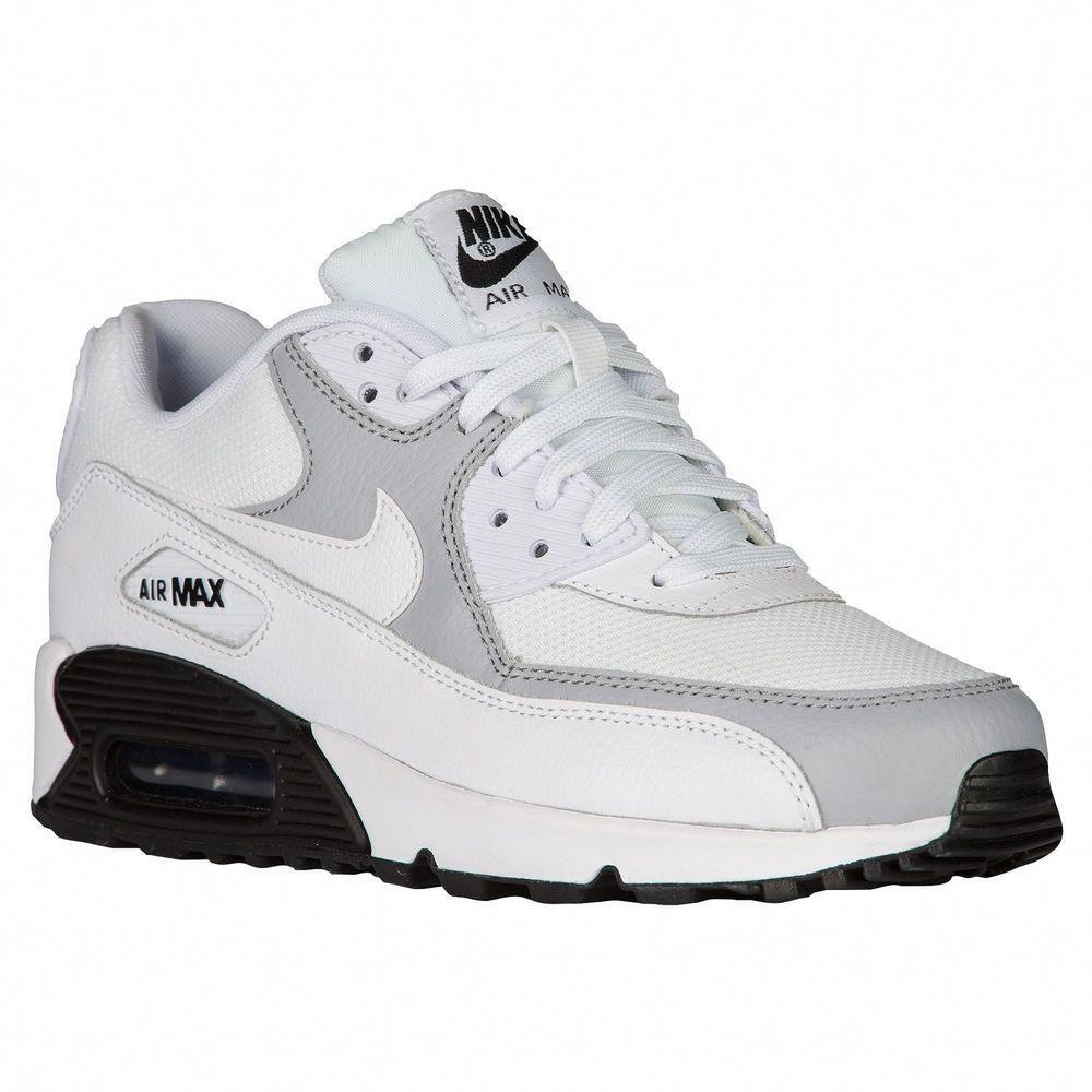 newest 88e01 f3ecb Nike Air Max 90 Women's White/White/Wolf Grey/Black 25213126 ...