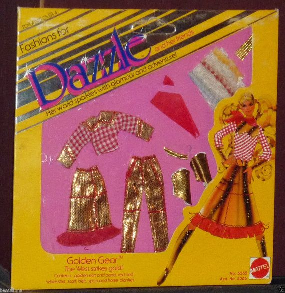 1981 Dazzle Barbie Fashion Golden Gear The West by TheIDconnection, $25.00