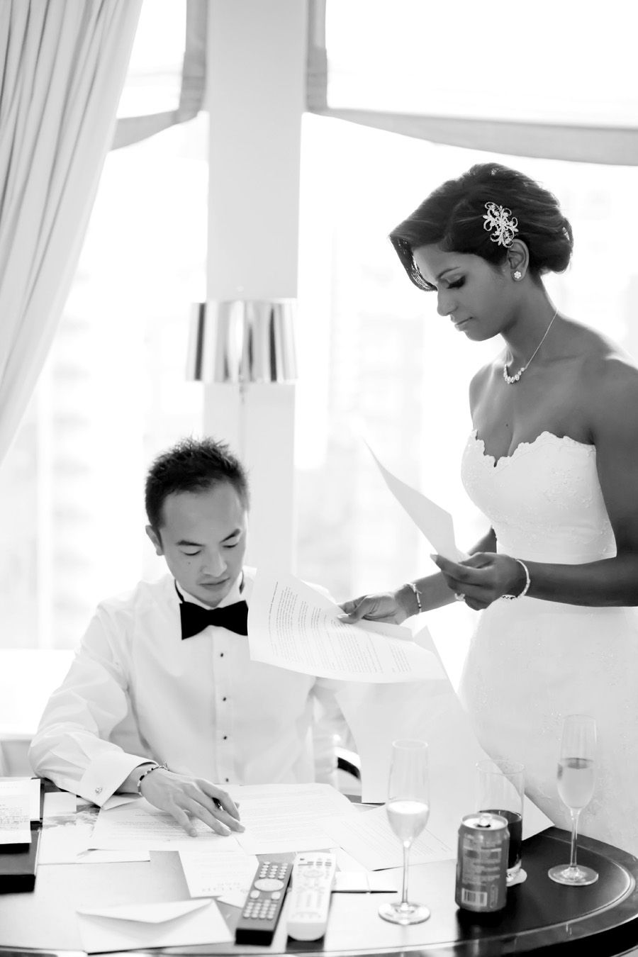 Trevor and Kamini's Elegant Wedding at Singapore Island Country Club. Photo by Kelvin, Lightedpixels Photography. Gown by Linda Gorringe Couture in Australia. #wedding #singapore #sgwedding
