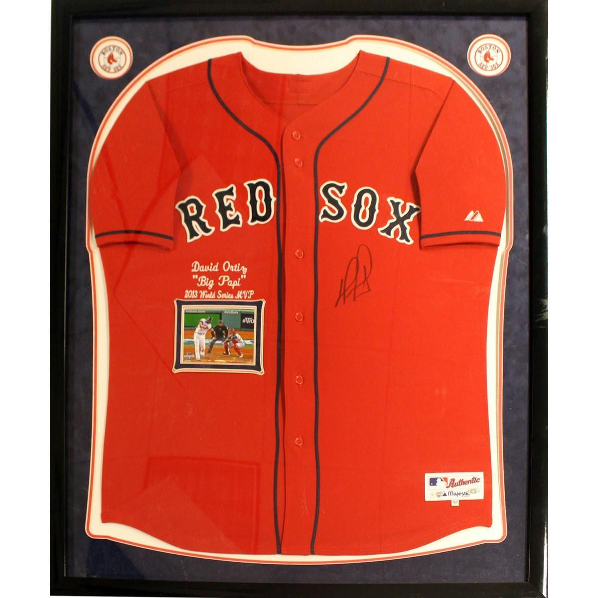 timeless design 3ded6 86bb1 David Ortiz Elite Framed Signed Authentic Red Sox Alternate ...