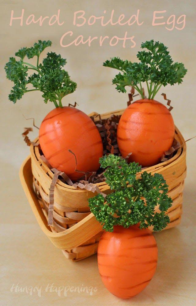 Hard Boiled Egg Carrots for Easter Dinner