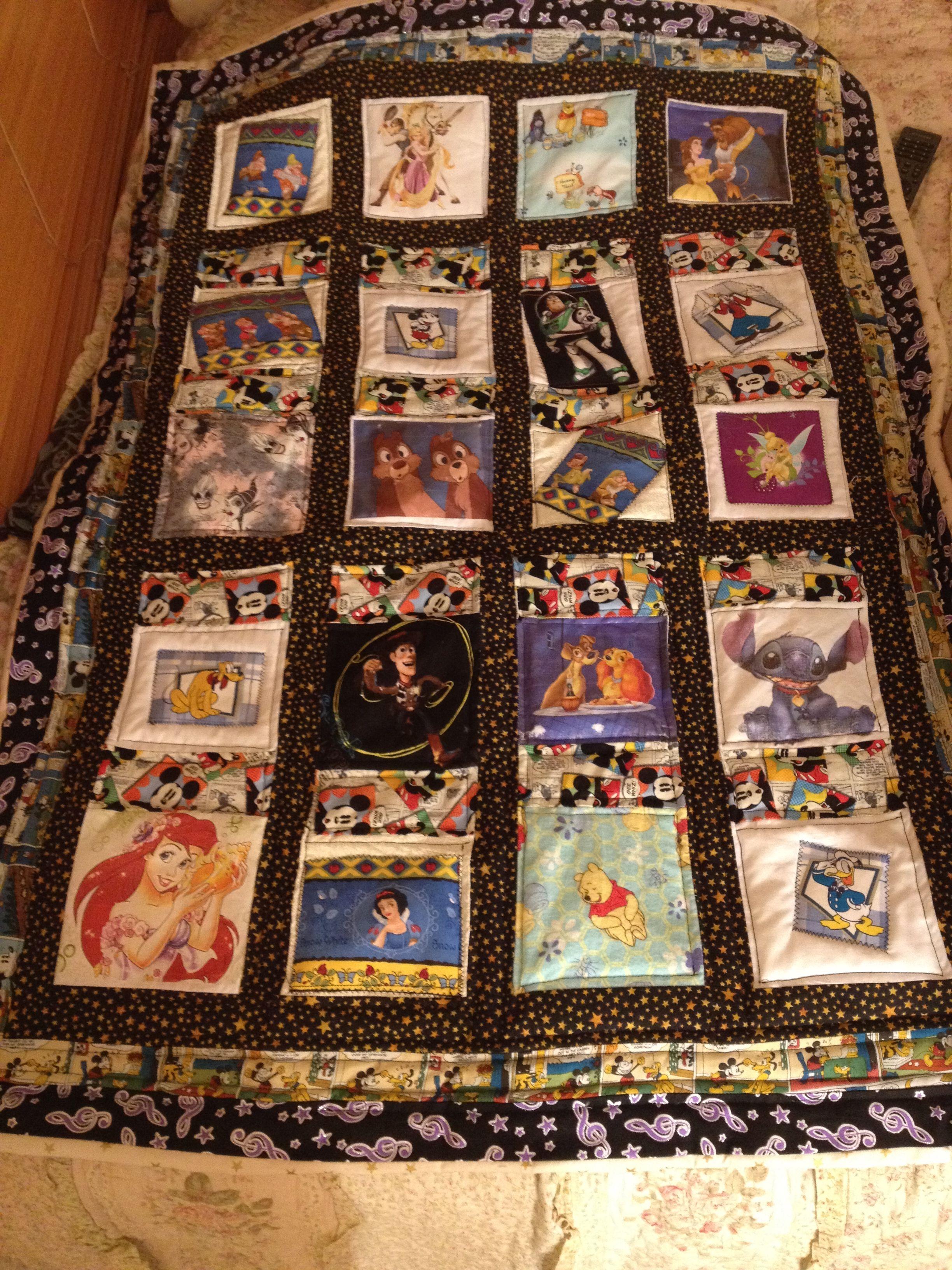 Disney Quilt Made From Disney Fabrics Appliqu 233 And