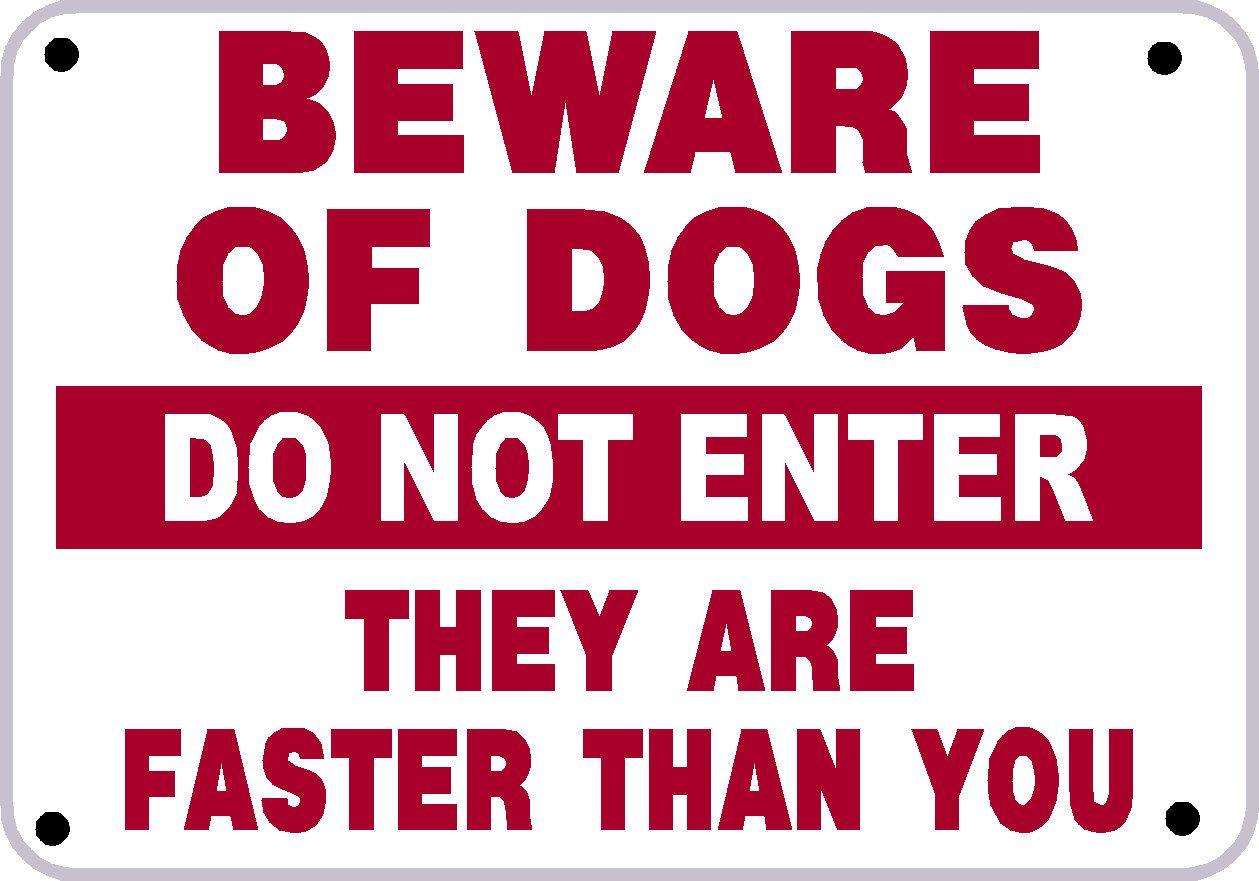 Boxer Dog Beware of the Dog  Design Metal Door Sign