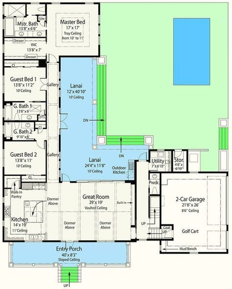 Net Zero Ready House Plan with L-Shaped Lanai | L shaped ... Zero Entry Bedroom House Plans on blueprint house plans, unique small house plans, energy efficient house plans, eco-friendly house plans, medium house plans, cheap house plans, most efficient house plans, amish house plans,