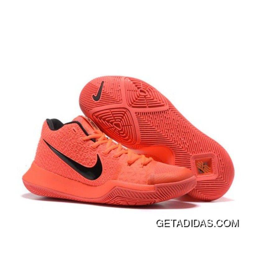 Cheap Genuine Nike Kyrie 3 Crimson Orange Black