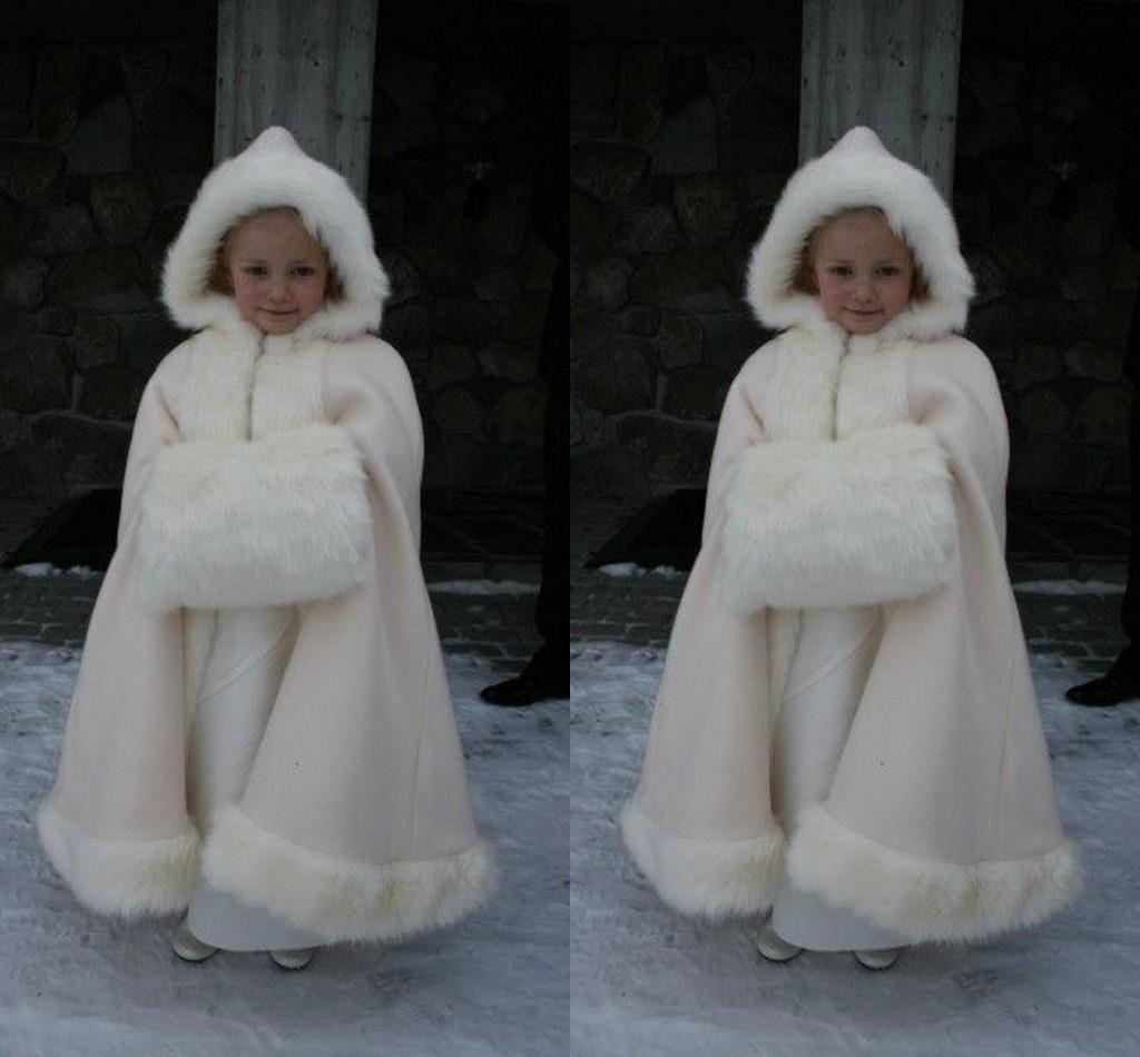 gorgeous winter flower girls cloak jacket gril pageant coat