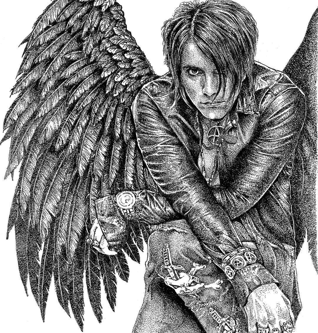 Hot Off The Drawing Board Finished Dark Angel My Criss Angel