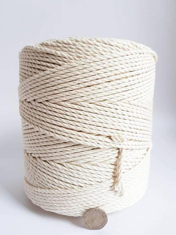 corde de coton 3mm. corde en coton torsadé de 15 kg. Corde en