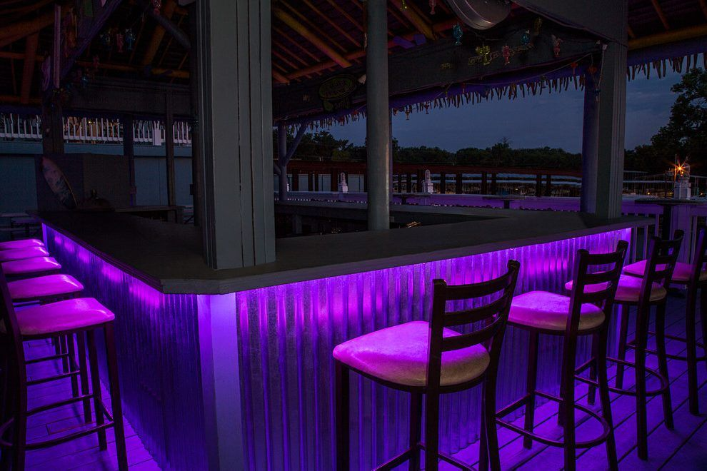 Outdoor Bar Lighting Ideas Patio Tropical With Pretty