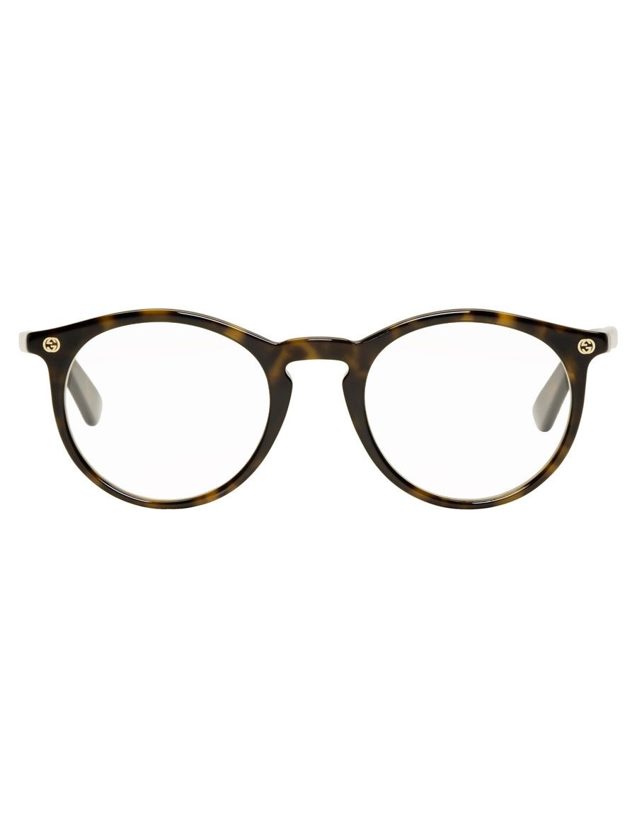 GUCCI Tortoiseshell Round Havana Glasses Optical Glasses d055167984a78
