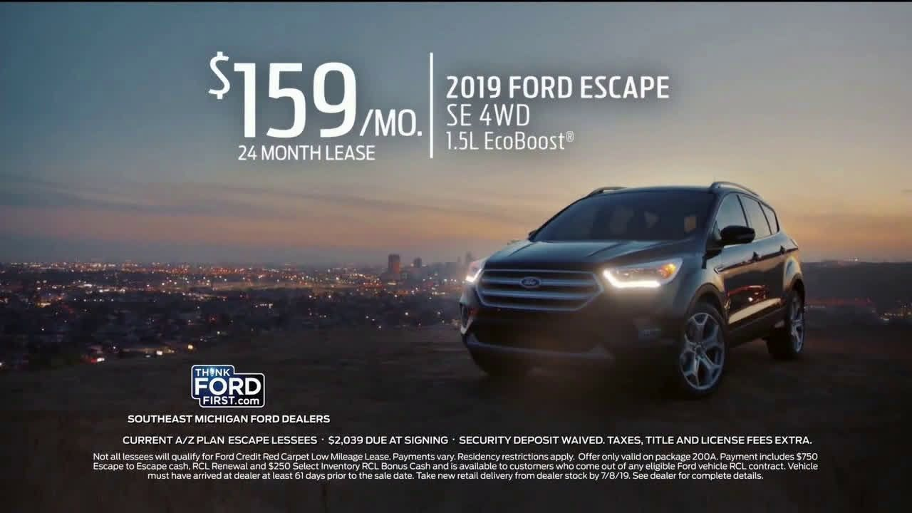 Ford 2019 Ford Escape Current A Z Plan Lessees Southeast Michigan Ad Commercial On Tv 2019 Ford Escape 2019 Ford Ford