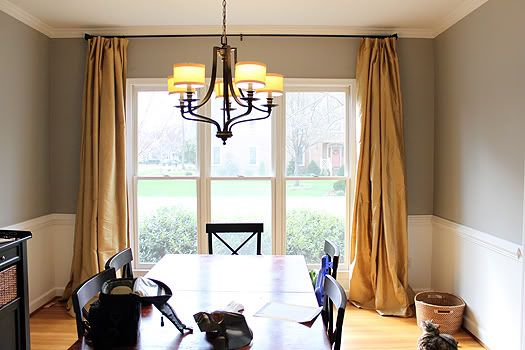 Extra Long Curtains In Dining Room