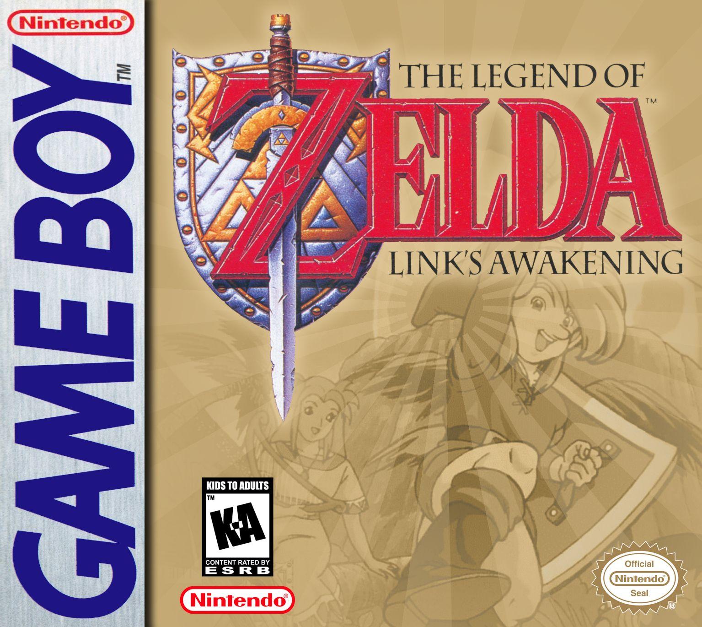 The Legend Of Zelda Link S Awakening Box Art 1993