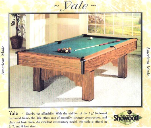 A Yale Pool Table Sold Used Pool Tables Billiard Tables Over - Showood pool table