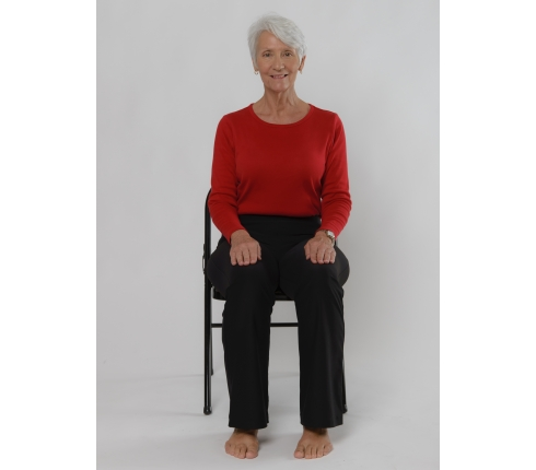 7 chair yoga poses for osteoarthritis with images