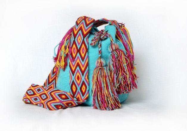 umh ngetaschen umh ngetasche wayuu aus baumwolle textilien ein designerst ck von molabags. Black Bedroom Furniture Sets. Home Design Ideas